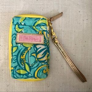 Lily Pulitzer Wristlet with ID window